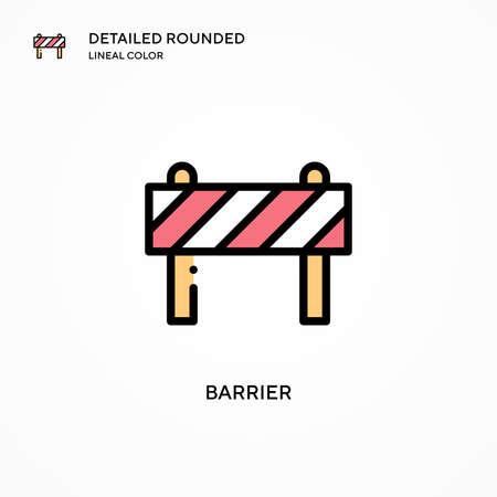 Barrier vector icon. Modern vector illustration concepts. Easy to edit and customize. Vettoriali