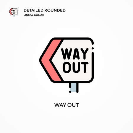 Way out vector icon. Modern vector illustration concepts. Easy to edit and customize. Illustration