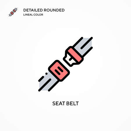 Seat belt vector icon. Modern vector illustration concepts. Easy to edit and customize.