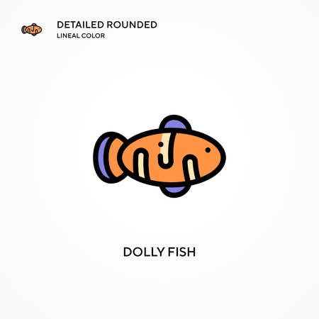 Dolly fish vector icon. Modern vector illustration concepts. Easy to edit and customize.