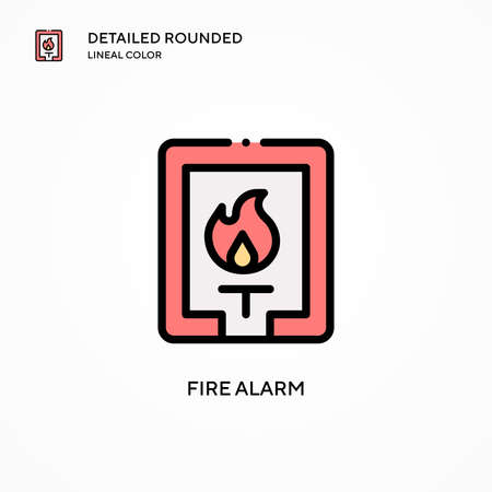 Fire alarm vector icon. Modern vector illustration concepts. Easy to edit and customize.
