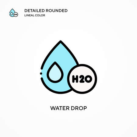 Water drop vector icon. Modern vector illustration concepts. Easy to edit and customize.