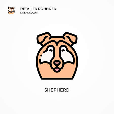 Shepherd vector icon. Modern vector illustration concepts. Easy to edit and customize.