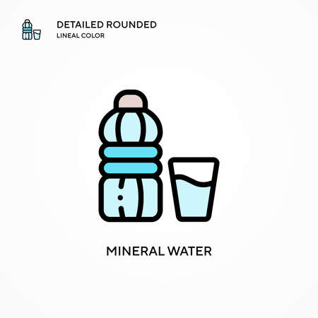 Mineral water vector icon. Modern vector illustration concepts. Easy to edit and customize.