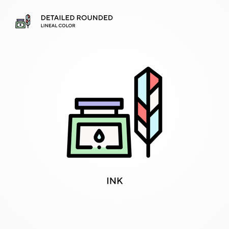 Ink vector icon. Modern vector illustration concepts. Easy to edit and customize.
