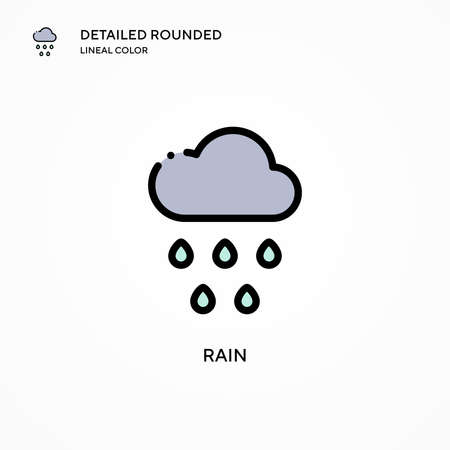 Rain vector icon. Modern vector illustration concepts. Easy to edit and customize.