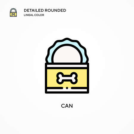 Can vector icon. Modern vector illustration concepts. Easy to edit and customize.