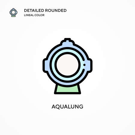 Aqualung vector icon. Modern vector illustration concepts. Easy to edit and customize.