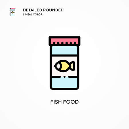 Fish food vector icon. Modern vector illustration concepts. Easy to edit and customize.