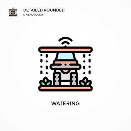 Watering vector icon. Modern vector illustration concepts. Easy to edit and customize. Vettoriali