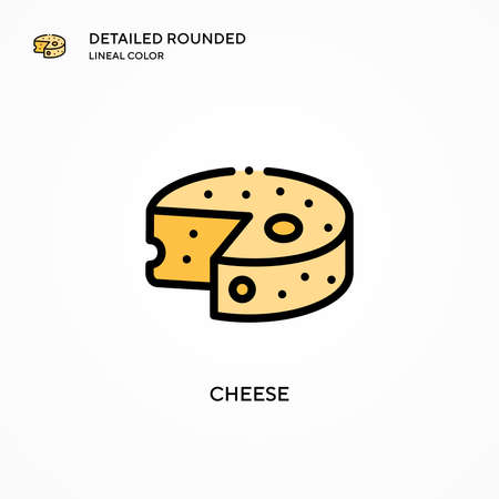 Cheese vector icon. Modern vector illustration concepts. Easy to edit and customize.