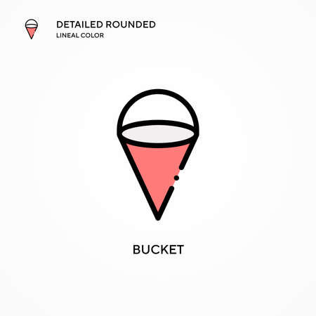 Bucket vector icon. Modern vector illustration concepts. Easy to edit and customize.