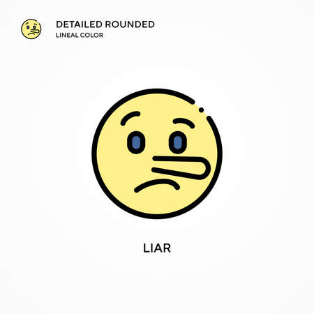 Liar vector icon. Modern vector illustration concepts. Easy to edit and customize.