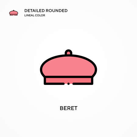 Beret vector icon. Modern vector illustration concepts. Easy to edit and customize.