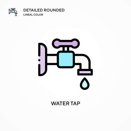 Water tap vector icon. Modern vector illustration concepts. Easy to edit and customize.