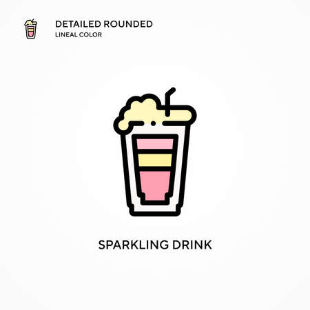 Sparkling drink vector icon. Modern vector illustration concepts. Easy to edit and customize.