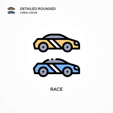 Race vector icon. Modern vector illustration concepts. Easy to edit and customize.