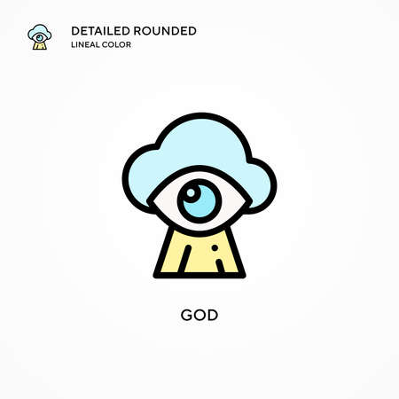 God vector icon. Modern vector illustration concepts. Easy to edit and customize.