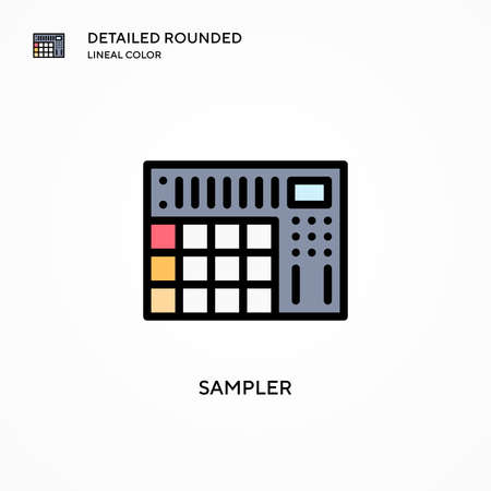 Sampler vector icon. Modern vector illustration concepts. Easy to edit and customize.