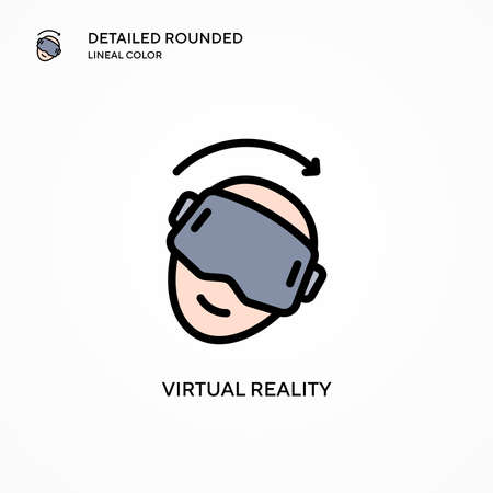 Virtual reality vector icon. Modern vector illustration concepts. Easy to edit and customize.