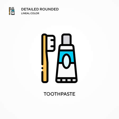 Toothpaste vector icon. Modern vector illustration concepts. Easy to edit and customize.