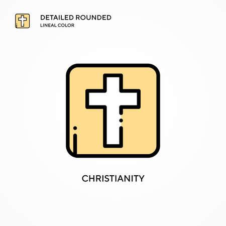 Christianity vector icon. Modern vector illustration concepts. Easy to edit and customize. Illusztráció