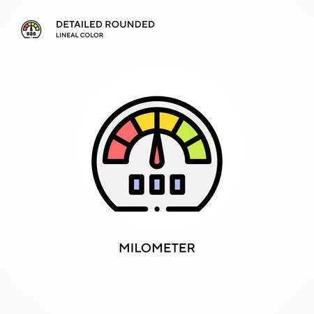 Milometer vector icon. Modern vector illustration concepts. Easy to edit and customize.