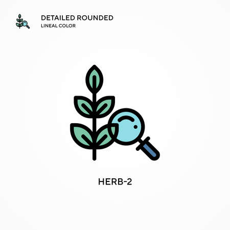 Herb-2 vector icon. Modern vector illustration concepts. Easy to edit and customize.