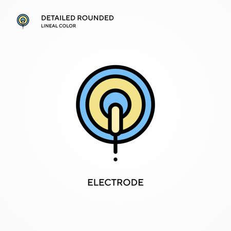 Electrode vector icon. Modern vector illustration concepts. Easy to edit and customize. Illusztráció