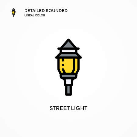 Street light vector icon. Modern vector illustration concepts. Easy to edit and customize.