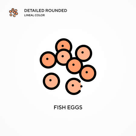 Fish eggs vector icon. Modern vector illustration concepts. Easy to edit and customize.