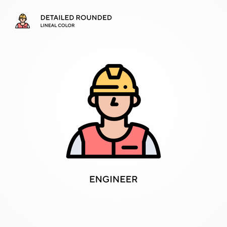 Engineer vector icon. Modern vector illustration concepts. Easy to edit and customize. Vettoriali