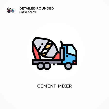 Cement-mixer vector icon. Modern vector illustration concepts. Easy to edit and customize. Illusztráció