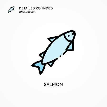 Salmon vector icon. Modern vector illustration concepts. Easy to edit and customize.