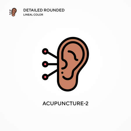 Acupuncture-2 vector icon. Modern vector illustration concepts. Easy to edit and customize.