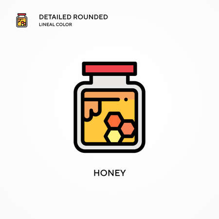 Honey vector icon. Modern vector illustration concepts. Easy to edit and customize.