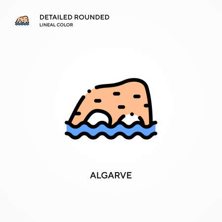 Algarve vector icon. Modern vector illustration concepts. Easy to edit and customize.