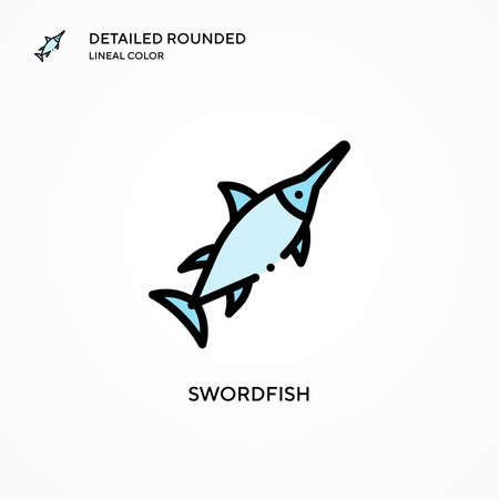 Swordfish vector icon. Modern vector illustration concepts. Easy to edit and customize.
