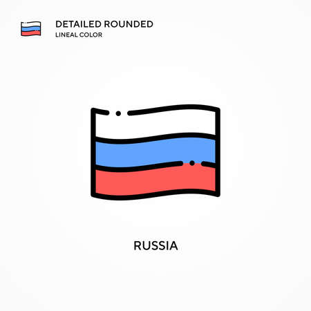 Russia vector icon. Modern vector illustration concepts. Easy to edit and customize.