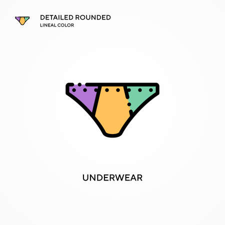 Underwear vector icon. Modern vector illustration concepts. Easy to edit and customize.