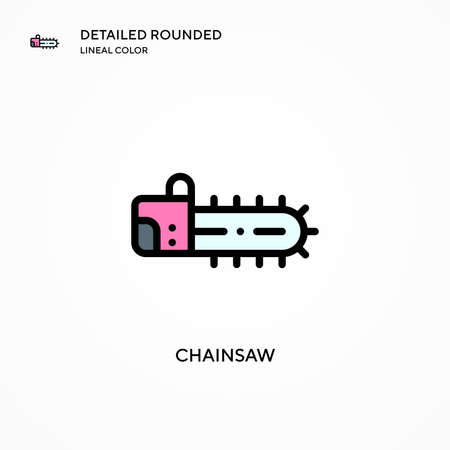 Chainsaw vector icon. Modern vector illustration concepts. Easy to edit and customize. Illustration