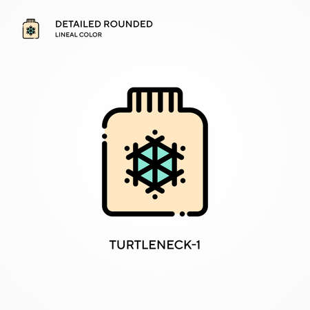 Turtleneck-1 vector icon. Modern vector illustration concepts. Easy to edit and customize. Çizim