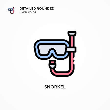 Snorkel vector icon. Modern vector illustration concepts. Easy to edit and customize.
