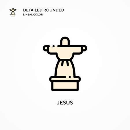 Jesus vector icon. Modern vector illustration concepts. Easy to edit and customize. Illusztráció