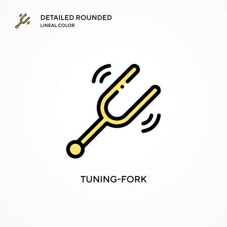 Tuning-fork vector icon. Modern vector illustration concepts. Easy to edit and customize. Stock Illustratie