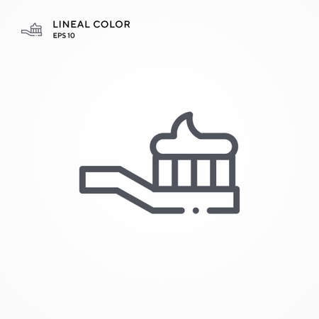 Toothbrush special icon. Modern vector illustration concepts. Easy to edit and customize. Illusztráció