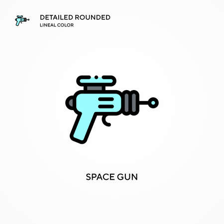 Space gun vector icon. Modern vector illustration concepts. Easy to edit and customize.