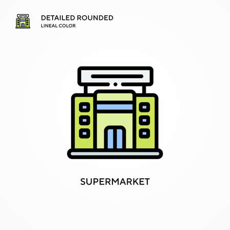 Supermarket vector icon. Modern vector illustration concepts. Easy to edit and customize. 向量圖像