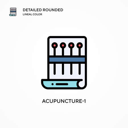 Acupuncture-1 vector icon. Modern vector illustration concepts. Easy to edit and customize. Illustration