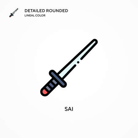 Sai vector icon. Modern vector illustration concepts. Easy to edit and customize.